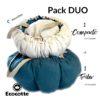 Pack DUO: 1 Ecocotte® Tribu + 1 Ecocotte® Compacte