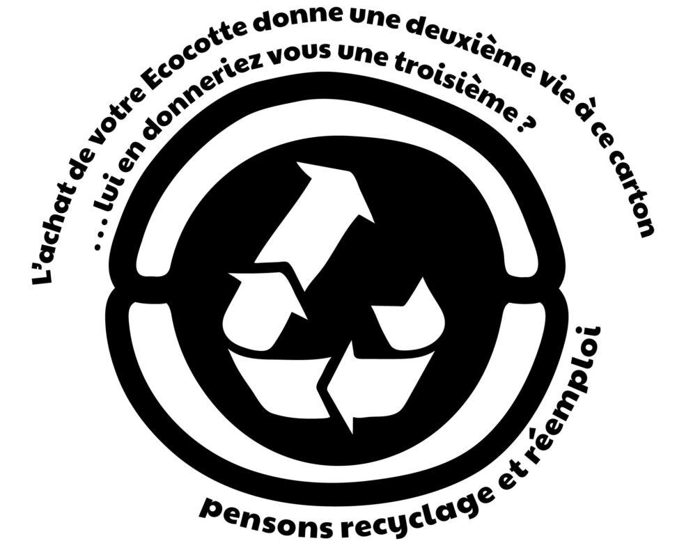 Le carton utilisé pour emballer votre Ecocotte® est upcyclé.