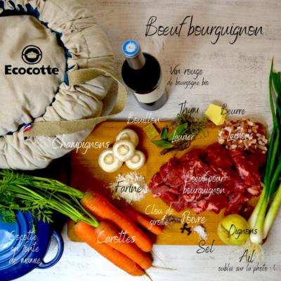 Recette bœuf bourguignon à l'ecocotte